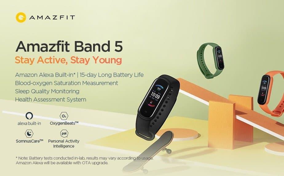 دستبند هوشمند امیزفیت بند 5 شیائومی